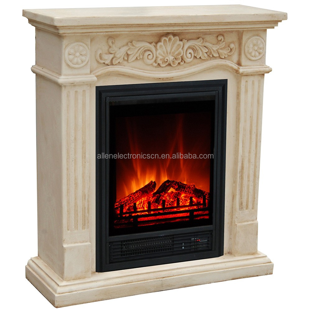 Fake Decor Flame Faux Stone Electric Fireplace with or No Heat