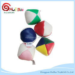 SEDEX factory supply classic 4 panels promotional juggling ball for children