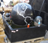 granite rolling ball water fountain