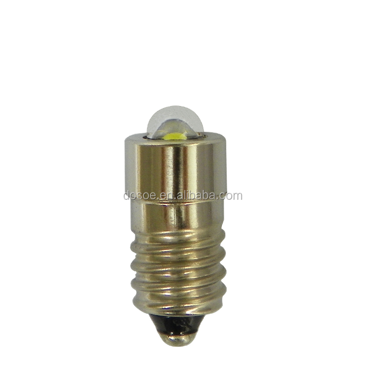 Full Range 6-30v E10 LED Flashlight Bulbs 1W