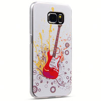 Colorful Fiery red guitar Shell Case for Samsung Galaxy S6 Edge Plus