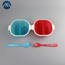 2017 new design suction feeding baby bowl spoon set