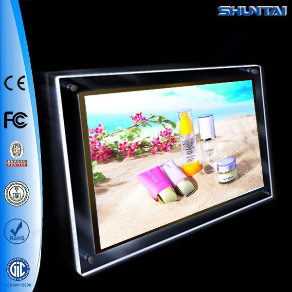 Guangzhou factory acrylic picture frame A4 led display panel