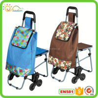 Shopping trolley eco-friendly handy travel cart with seat
