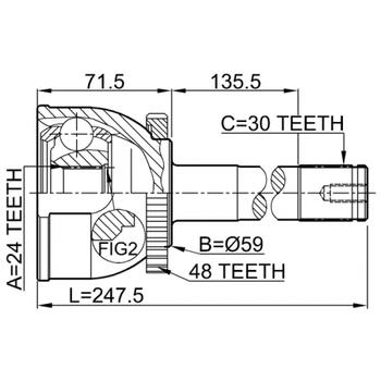 Online Automotive OLACV1451N C.V Joint