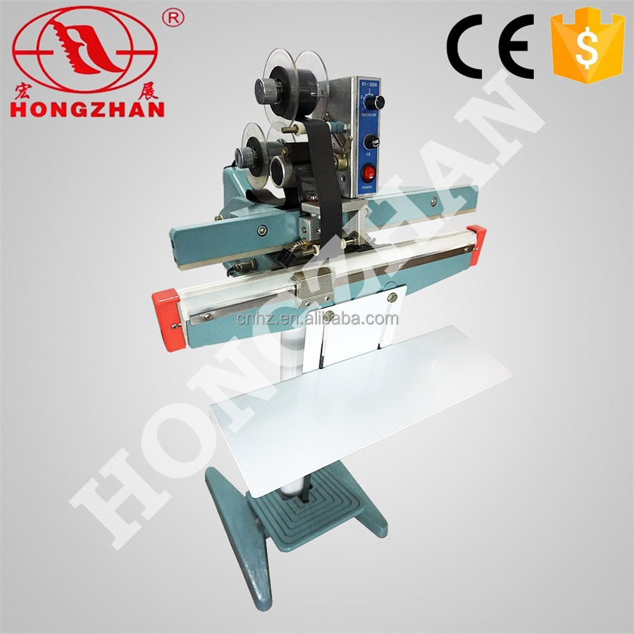 Hongzhan KS350/450/600 plastic bags sealing pedal Impluse sealer/foot pedal heat sealer/heat sealer for aluminum foil plastic ba
