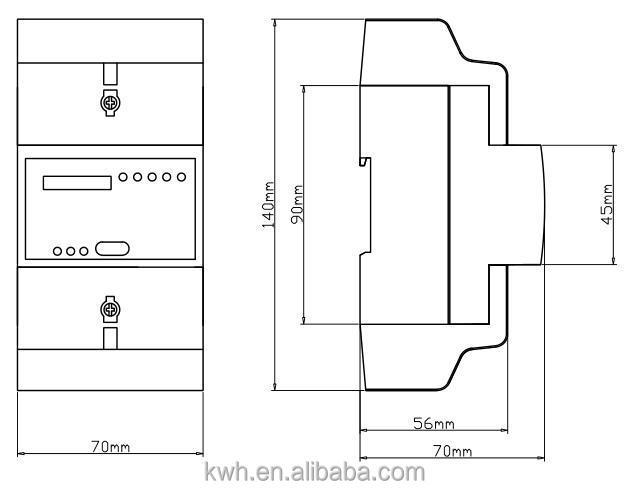 three phase analog display energy meter electronics meter