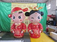 customized new style inflatable bride and groom for wedding decoration