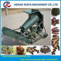 Automatic 1T Castor bean seed shelling sheller machine with diesel engine 0086-15981835029