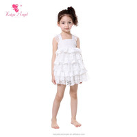 Lace edging tube dance dress lifting straps white birthday fancy dresses for girls