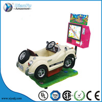 2016 newest amusement indoor coin operated kids Kids' Racing car coin pusher arcade car/kids swing swing car riding gam