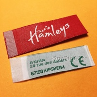 wholesale custom name tag garment clothing woven labels with no MOQ