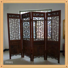 Solid wood folding screen room divier