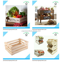 New Designed Wholesale Natural Unfinishd Cheap Wooden Fruits Crates For Sale