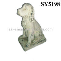 Sitting dog life size cement statues