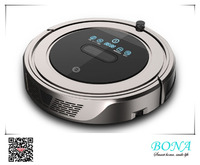 Auto Recharge Metallic Silver Robot Vacuum Cleaner BL809