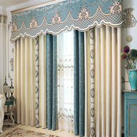 Custom jacquard chenille shading bedroom curtains