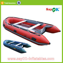 8 person pvc inflatable pontoon fishing boat rubber boat