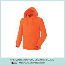 Wholesale Orange Color Dri Fit Plus Size Pullover Plain Hoodies