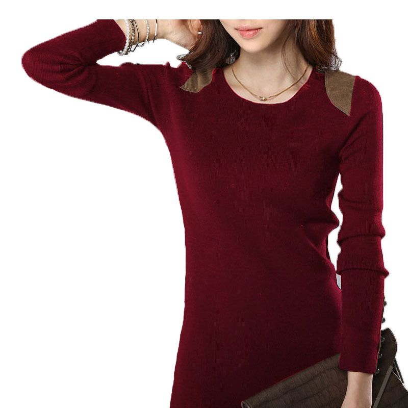 2015 Fall And Winter Women Office Dress Long Sleeve Solid Color Package Hip Slim Elegant Dresses Button Decoration #P305