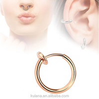 Dongguan Direct Supply Pig Nose Ring Nickel Free Nose Rings
