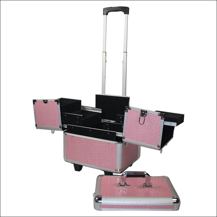 Hairdresser aluminum make up beauty trolley case