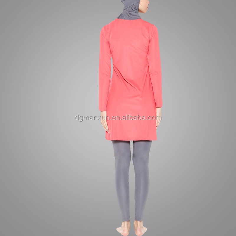 Wholesale Online Fully Covered Muslim Swimsuit Hot Sell Lycra Fabric Islamic Women Clothing