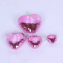 wholesale colorful hanging heart shape disco ball