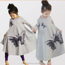 MS60184C wholesale printed butterfly cute hot selling kids dress