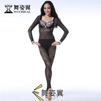 Wuchieal Belly Dance Leotard and Tights with Strass