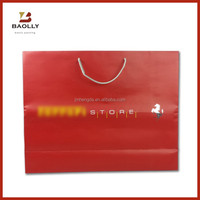 Luxury red gift paper bag packaging wine paper bag printing custom