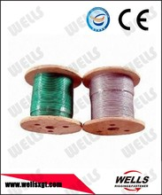Wells factory 10mm rigging vinyl coated wire rope