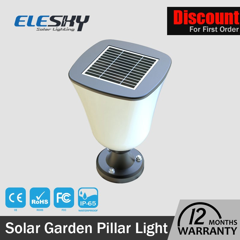 Quality assurance Guangdong photocell outdoor standing solar lamps