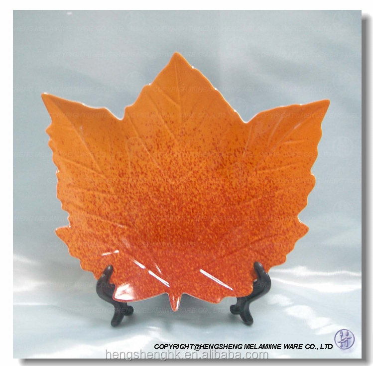 Melamine Plate Maple Leaf Shape Plate