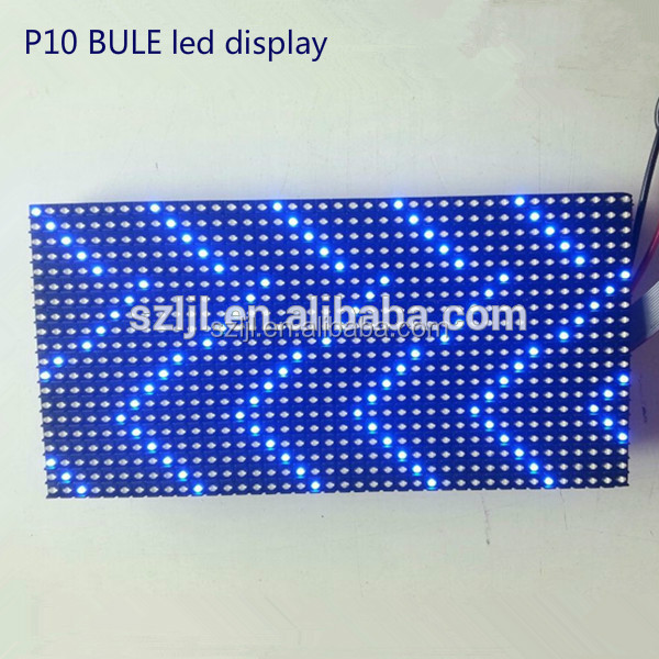 Outdoor Bule P10 LED Moving Message Display/Module/Board 1/4scan
