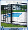 Electro static spray black aluminum swimming pool fence (Hebei)