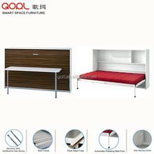 2017 hot sell CF124SF wall mounted pull out folding bed with table