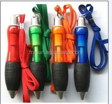 China factory promotional plastic short retractable cord ball pen with string