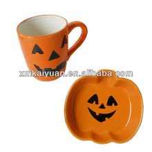 Halloween coffee cup and saucer