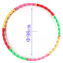 Folding fitness weighted hula hoop Different design hot selling glowing flexible hula hoop