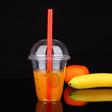 12oz Plastic disposable smoothie cups with lid