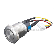 LED waterproof metal illuminated pushbutton switch with wiring