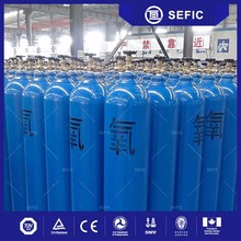 2017 10L empty oxygen gas cylinder with valve of full wrapped composition
