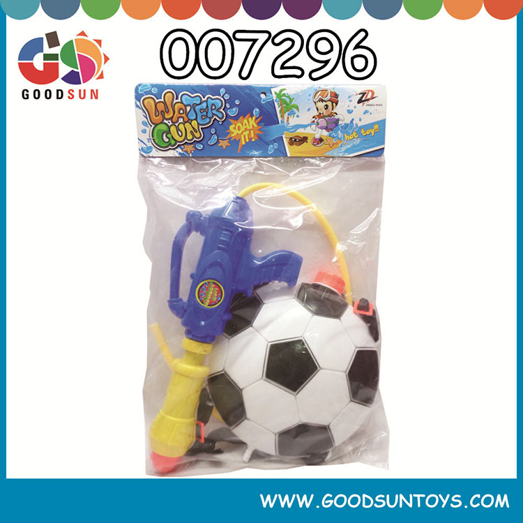 Plastic summer water gun toy with cartoon backpack for children