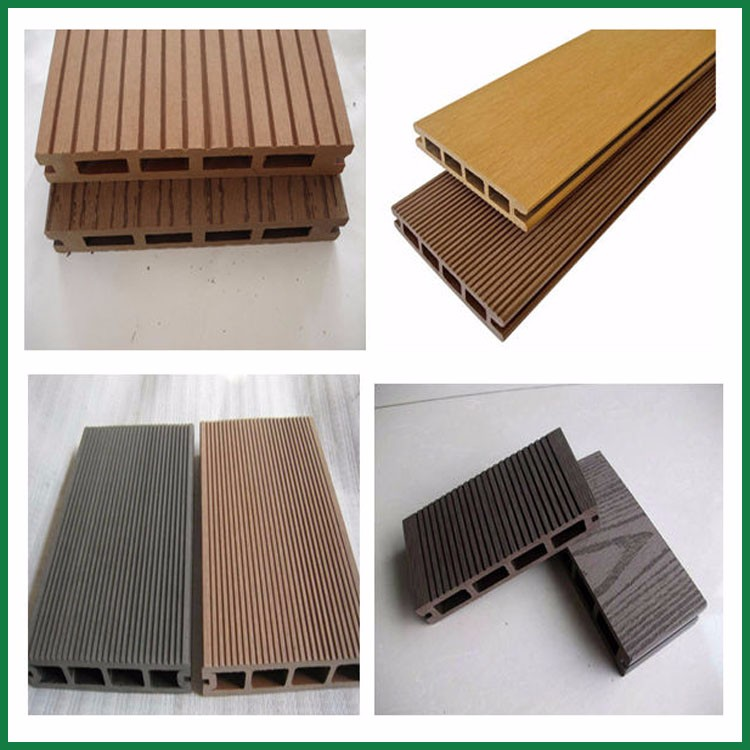 Low price grooving hollow composite wpc outdoor floating for Low price decking