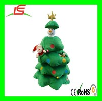 LE A0083 Singing Christmas Tree Santa Snowman Musical Plush Toy