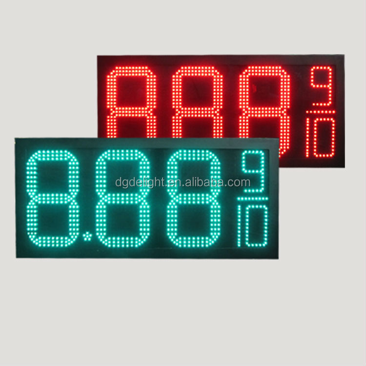 double digits 7 segment display/ outdoor 4 digits gas price led signs/ humidity temperature 7 segment led clock display