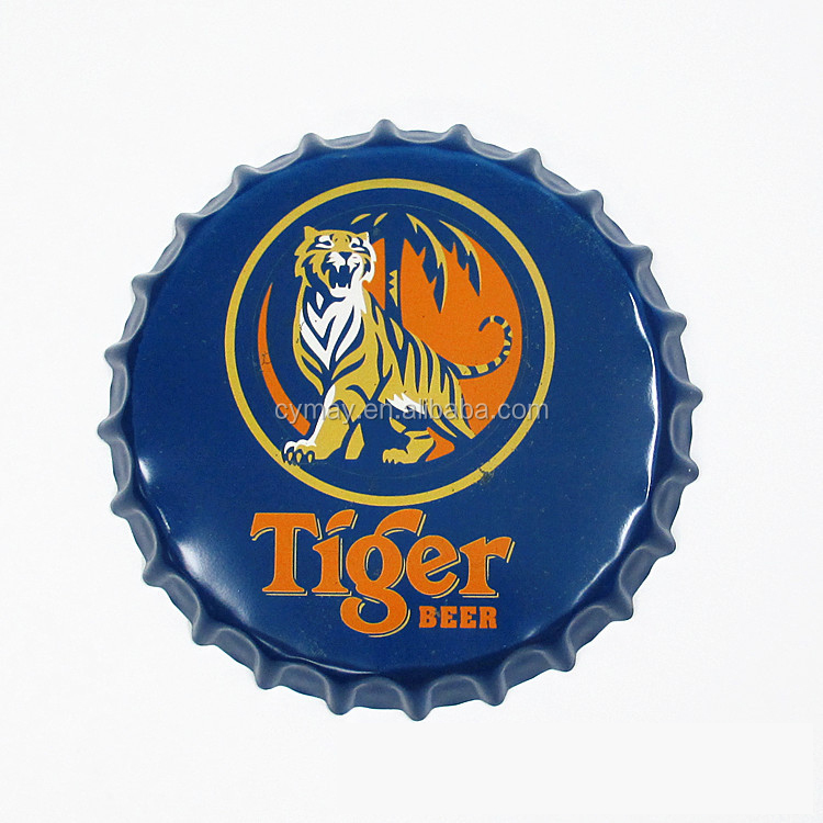 Promotion best quality bottle cap craft custom vintage metal sign