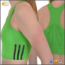 OEM Custom Wholesale Performance Elasticated hem Womens Running Sports Crop Top