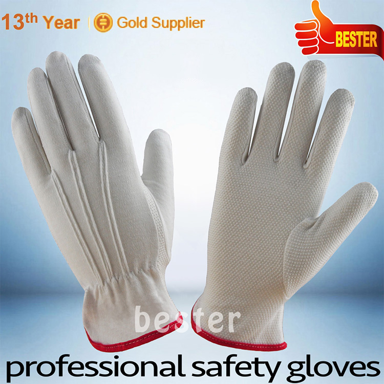 New Wholesale durable safety work pvc coated cotton glove